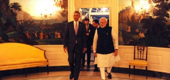 PM Narendra Modi meets Barack Obama: gifts him Gita