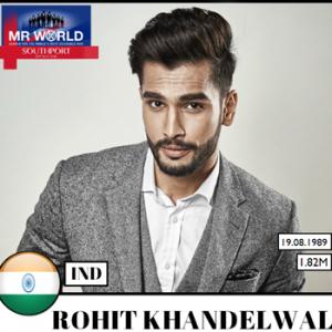 Mr World 2016 - Rohit Khandelwal