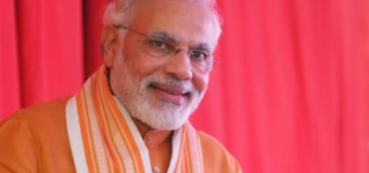 Indian Prime Minister Modi greets people on occasion of Eid
